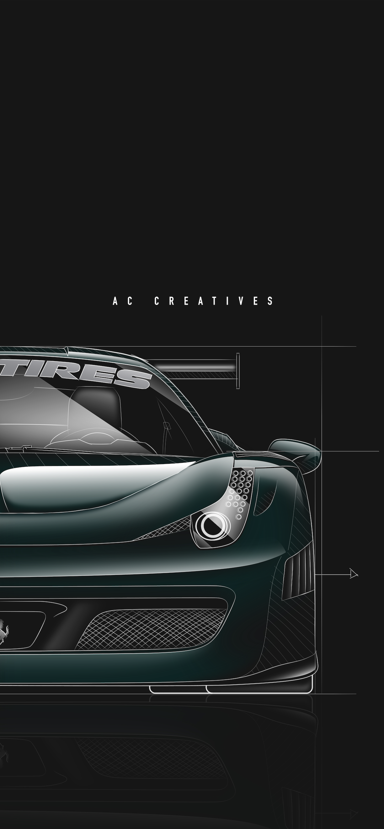 Tj Hunt Ferrari Wallpaper Ac Creatives Graphic Design Illustration