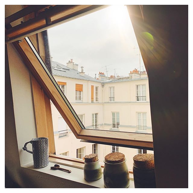 We have been in Paris for 5 days now and I've spent lots of time in the apartment reading and finding beauty in small details like the light that bursts through our windows all day.