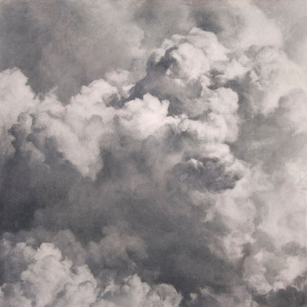 Volatilis I, 2015. Graphite on gouache-tinted paper.10 x 10 inches.  Available