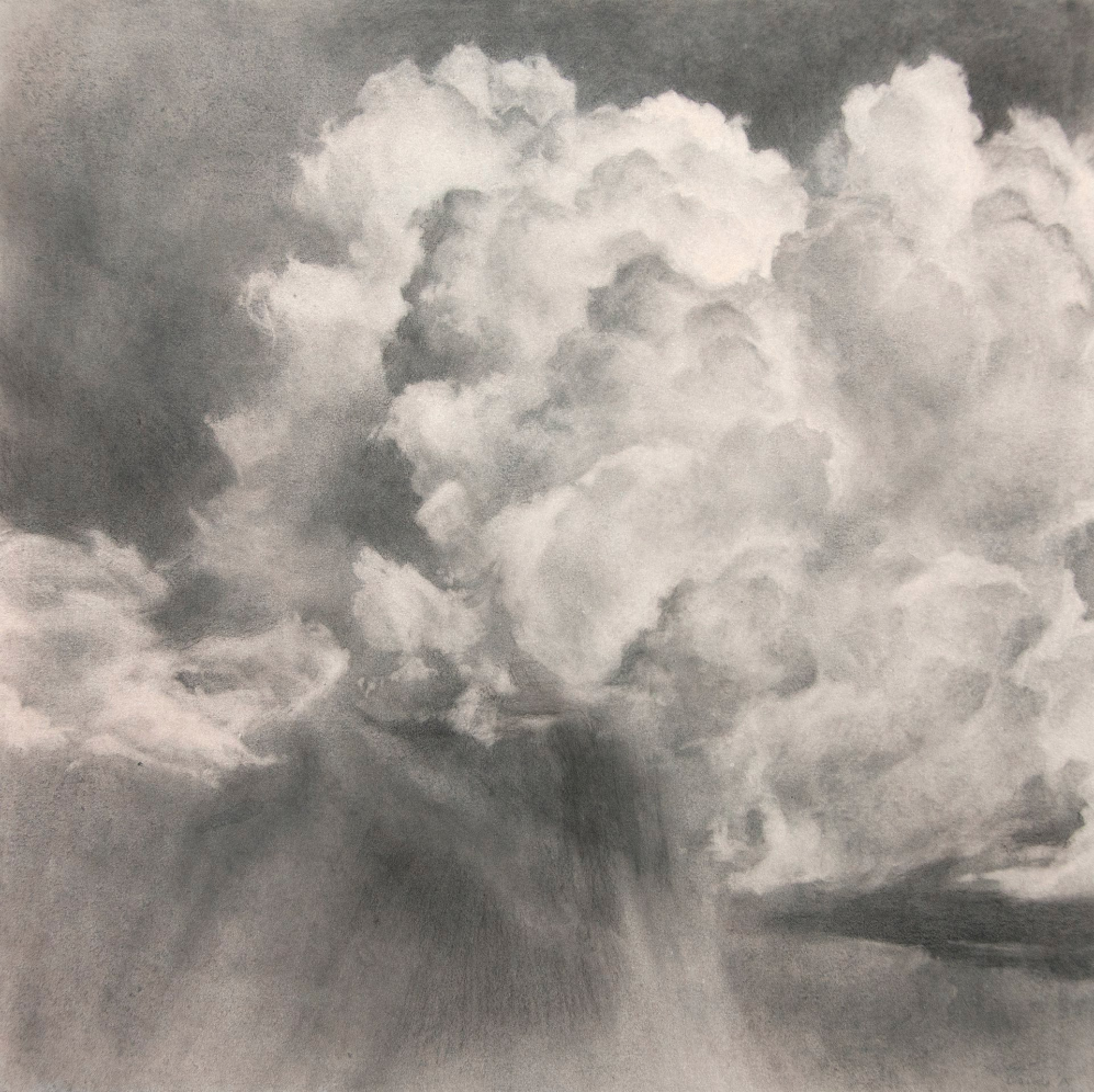 Volatilis III, 2015. Graphite on gouache-tinted paper.10 x 10 inches.  Available