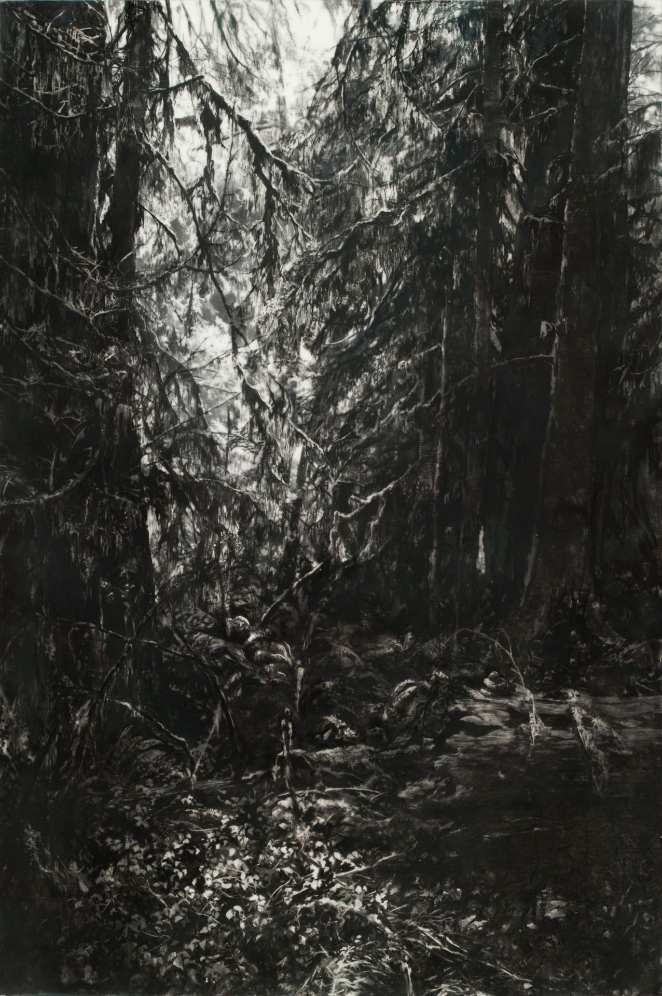 The Passage , 2012. Encaustic and charcoal on panel.45 x 30 inches.  Available