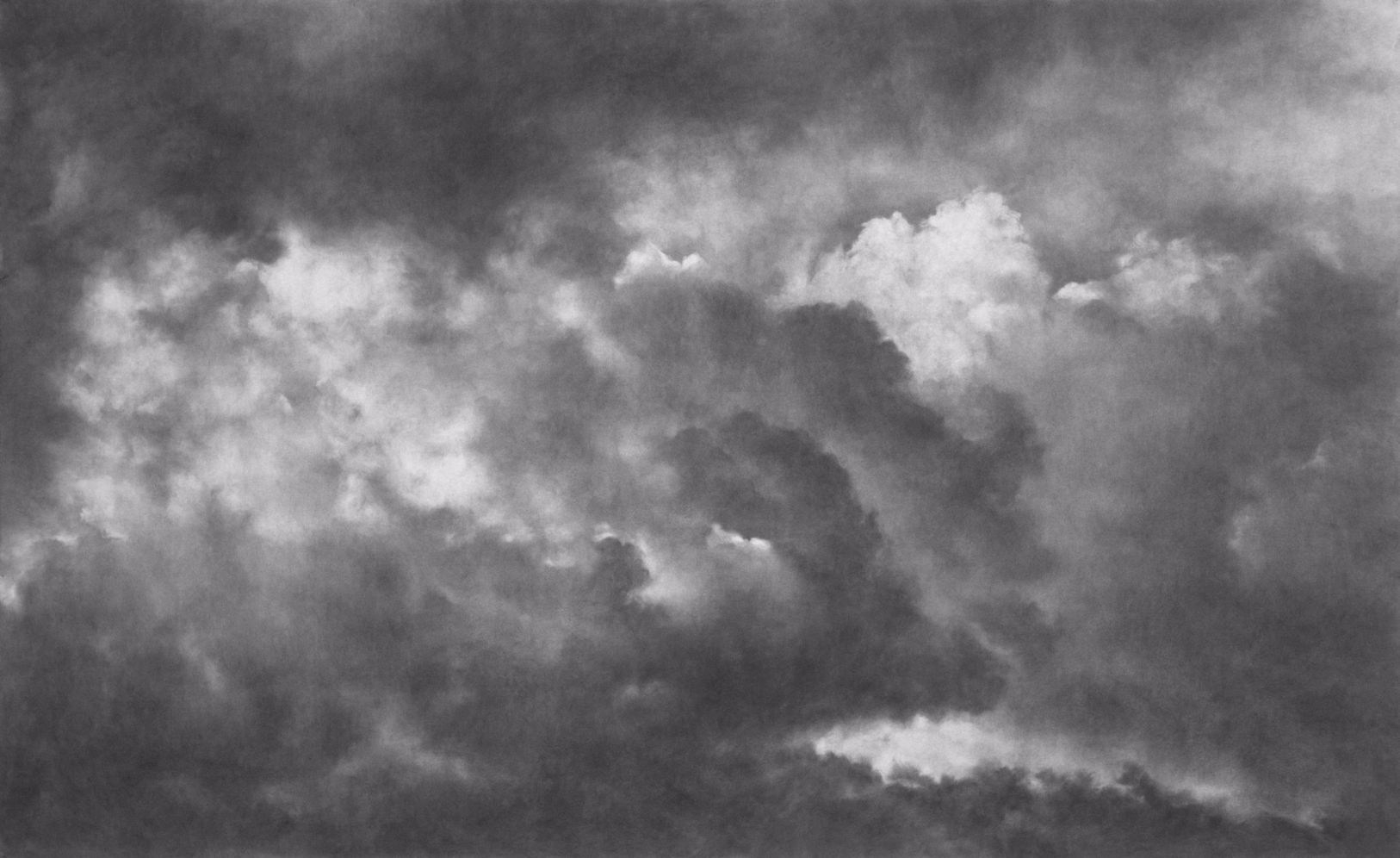 Ruach III , 2008. Charcoal on paper.60 x 96 inches.  Available