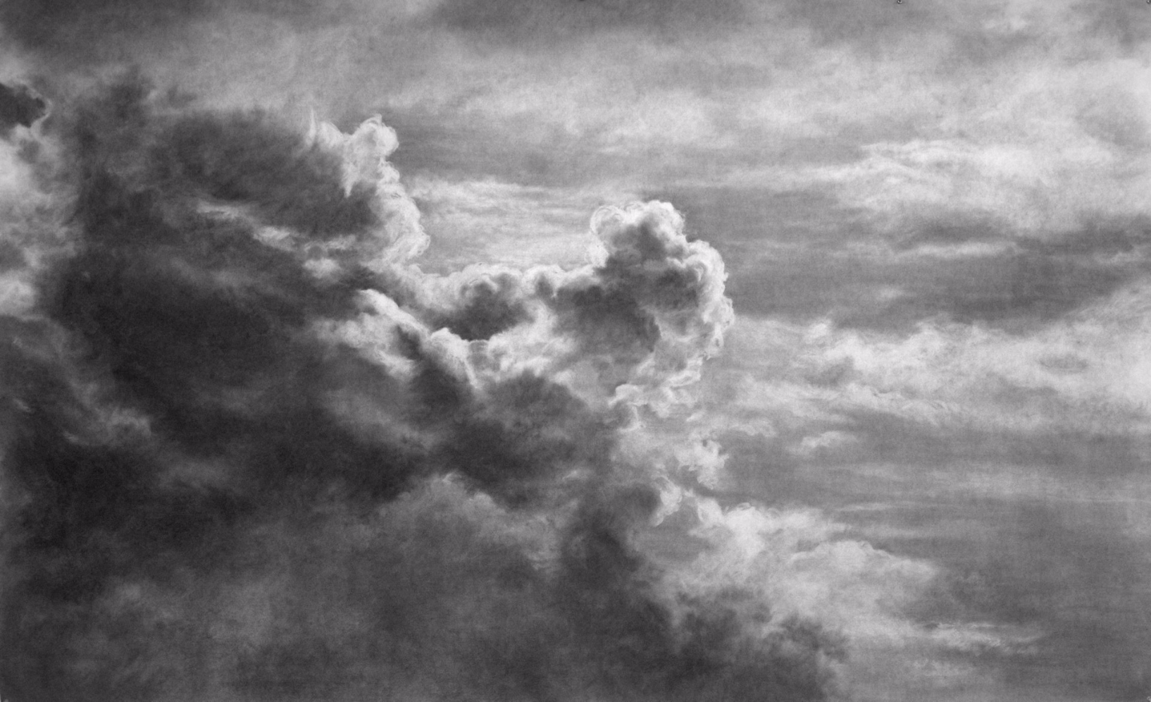 Ruach I , 2008. Charcoal on paper.60 x 96 inches.  Available