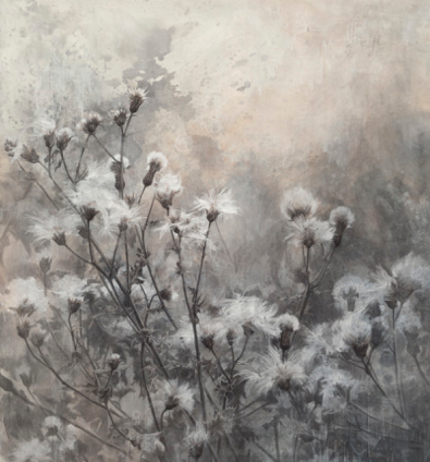 In the Gloaming ,2014. Mixed media on paper. 50 x 42 inches. Private collection.