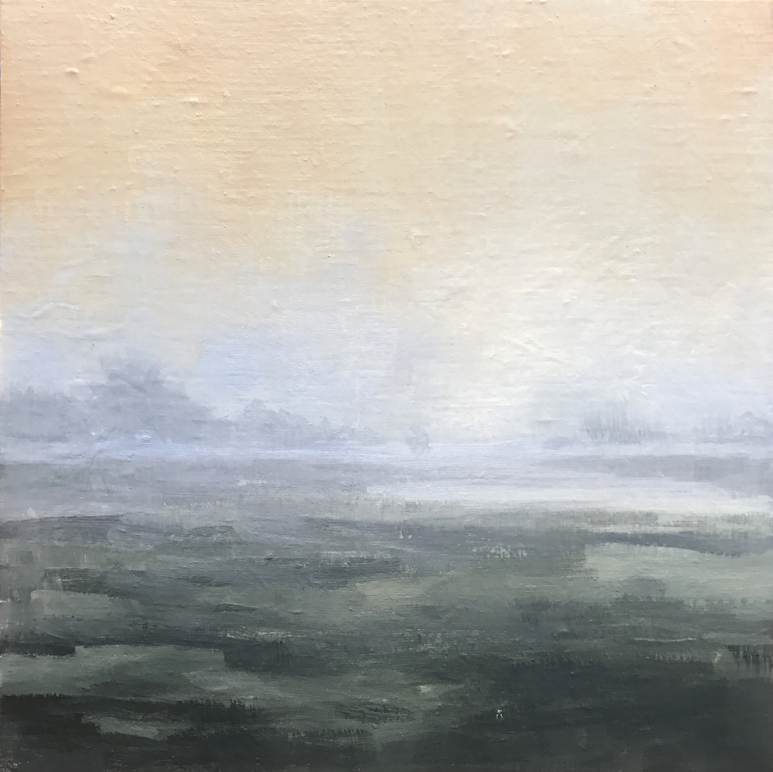 Landscape I . 12 x 12 inches. oil on mounted linen.  $450