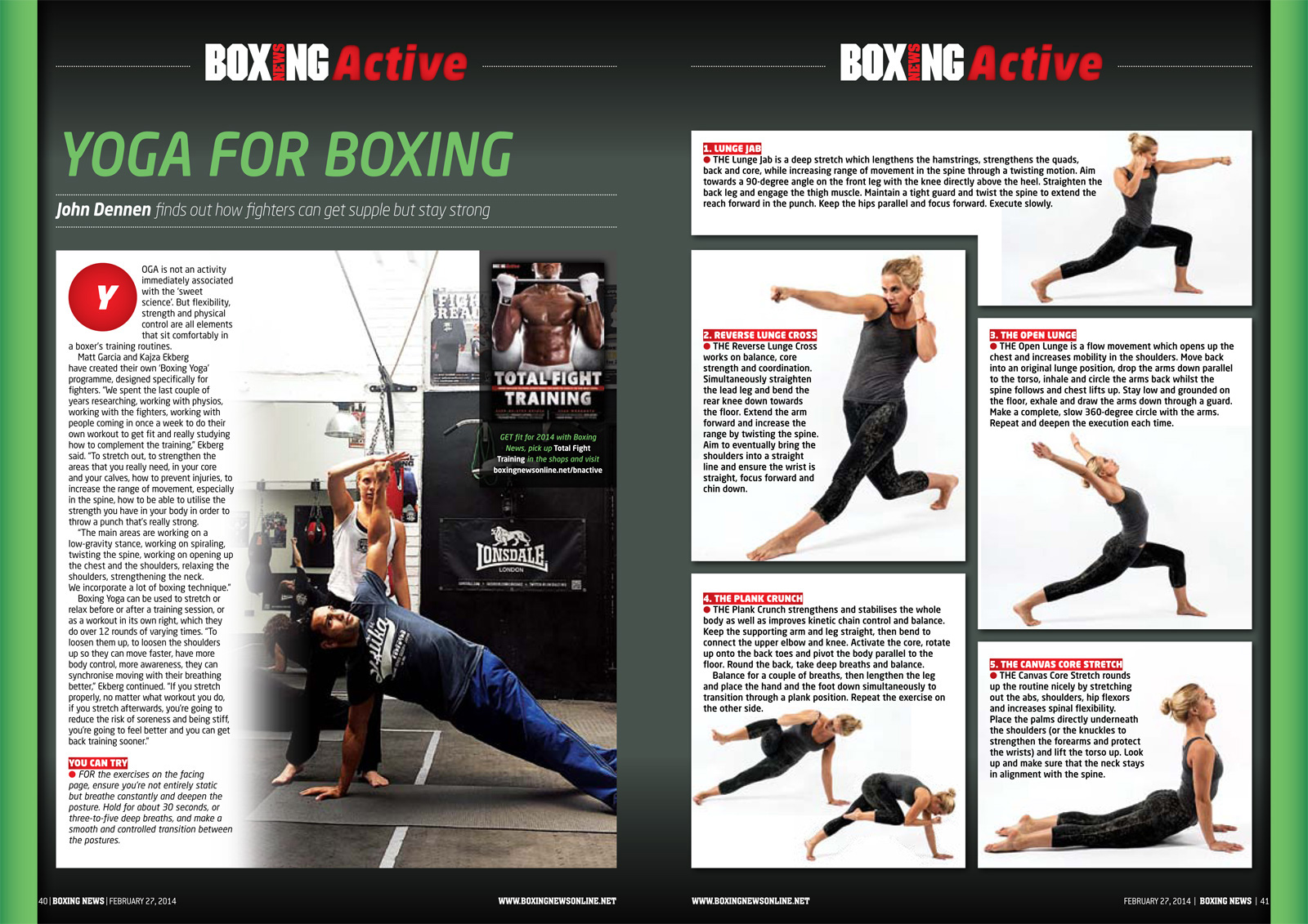 BoxingYoga in Boxing News