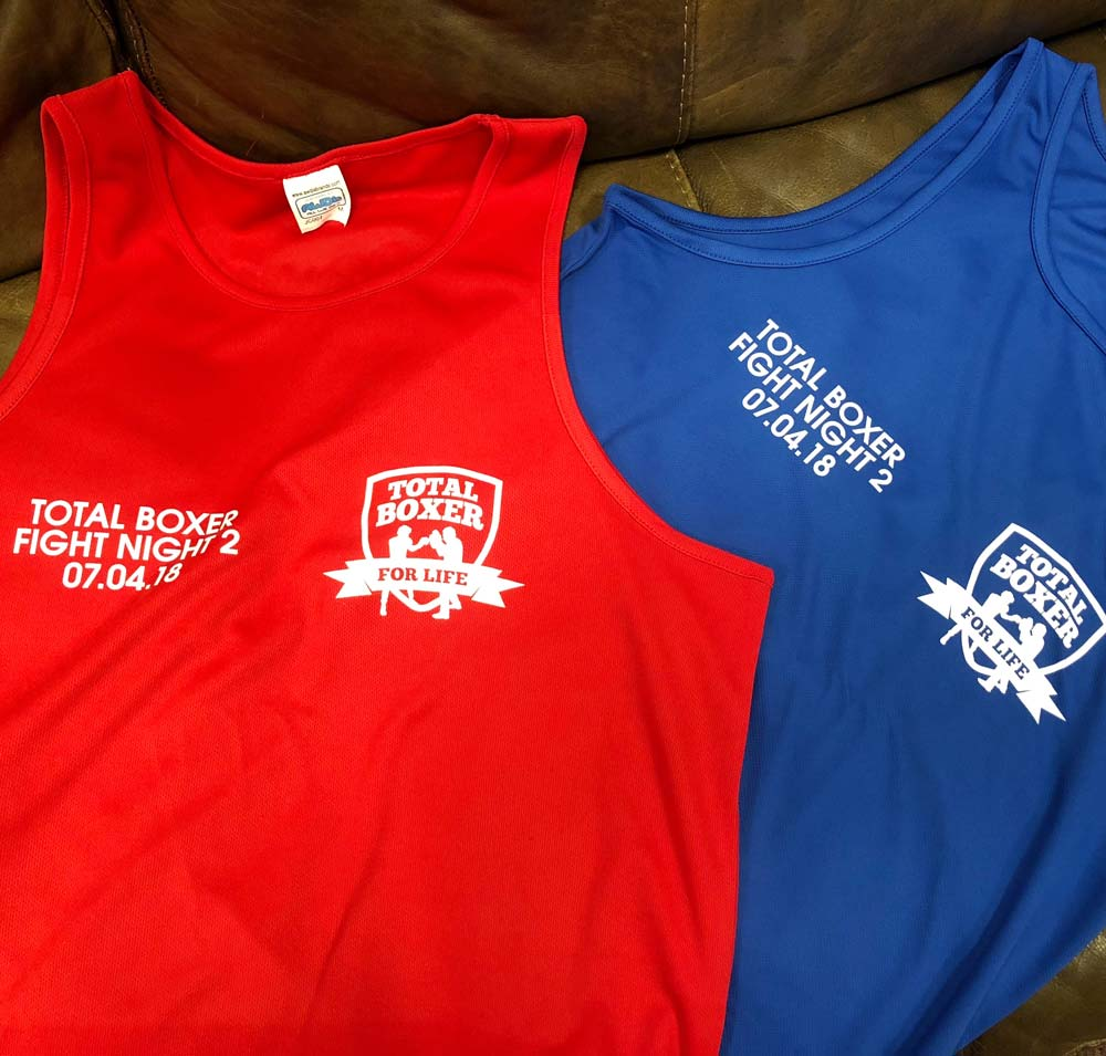 Total Boxer Competitor Vests.