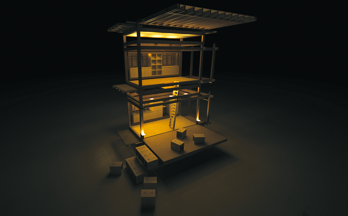 Tiny House - Eco Home - Sustainable at Night.jpg