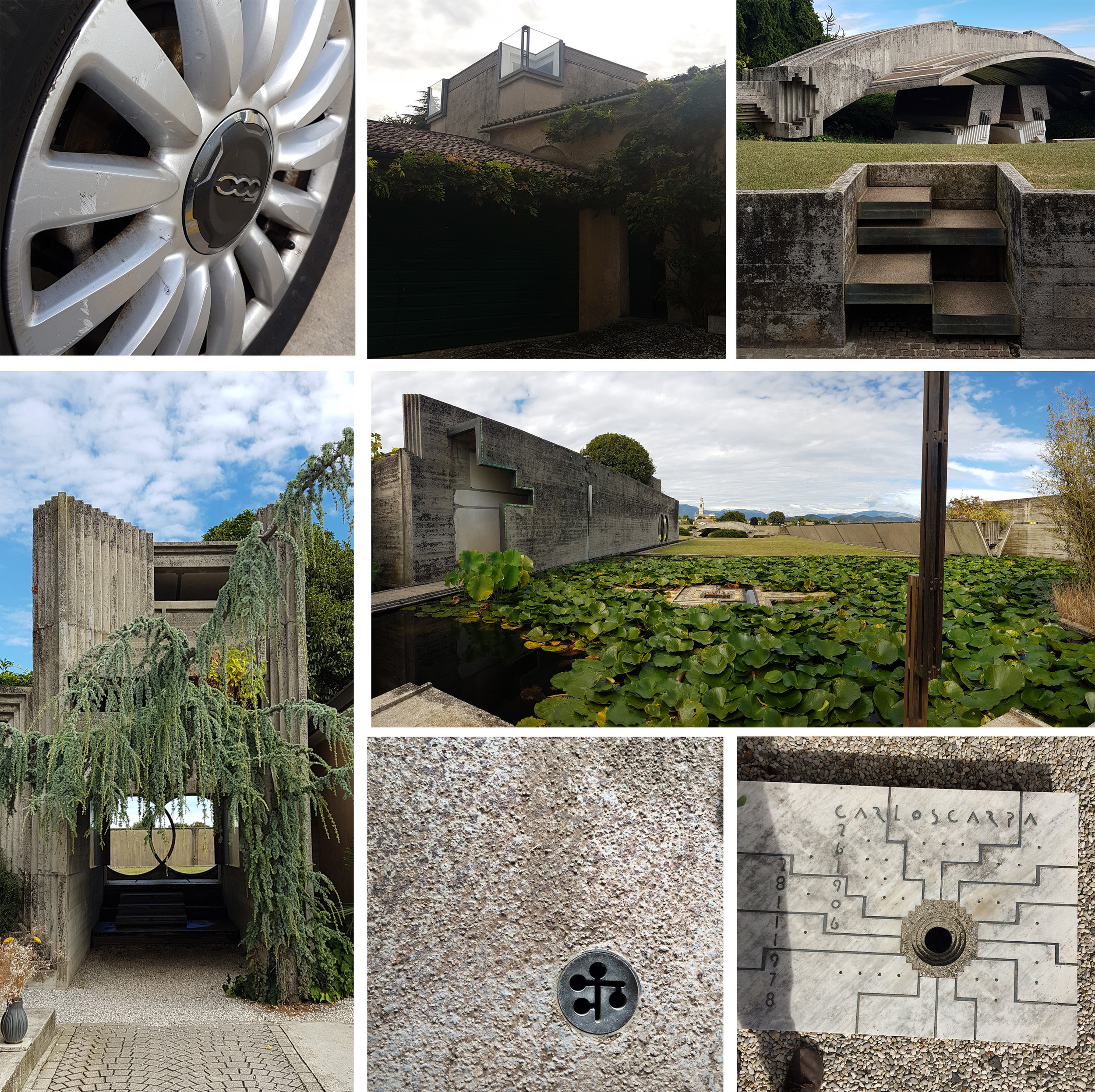 Driving to Canova Museum & Cast Gallery (Row 1), and the Brion Cemetery (Rows 2 & 3)
