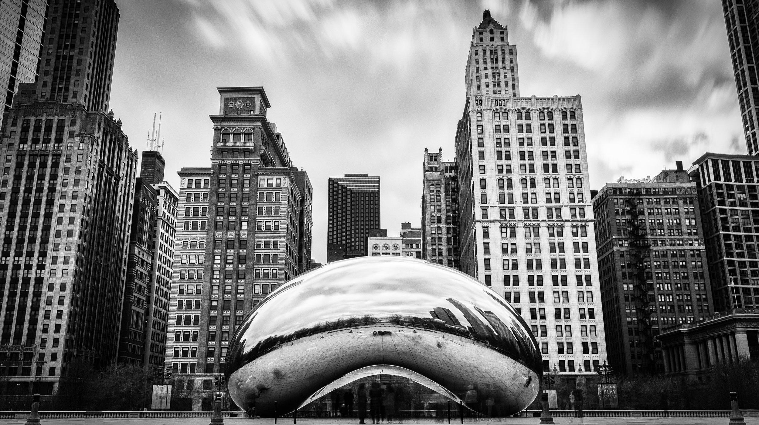 Cloud Gate. Millenium Park. Chicago, IL. March. 2018