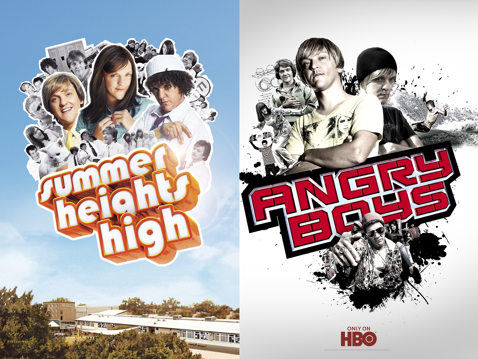 SUMMER HEIGHTS HIGH  &  ANGRY BOYS,  HBO