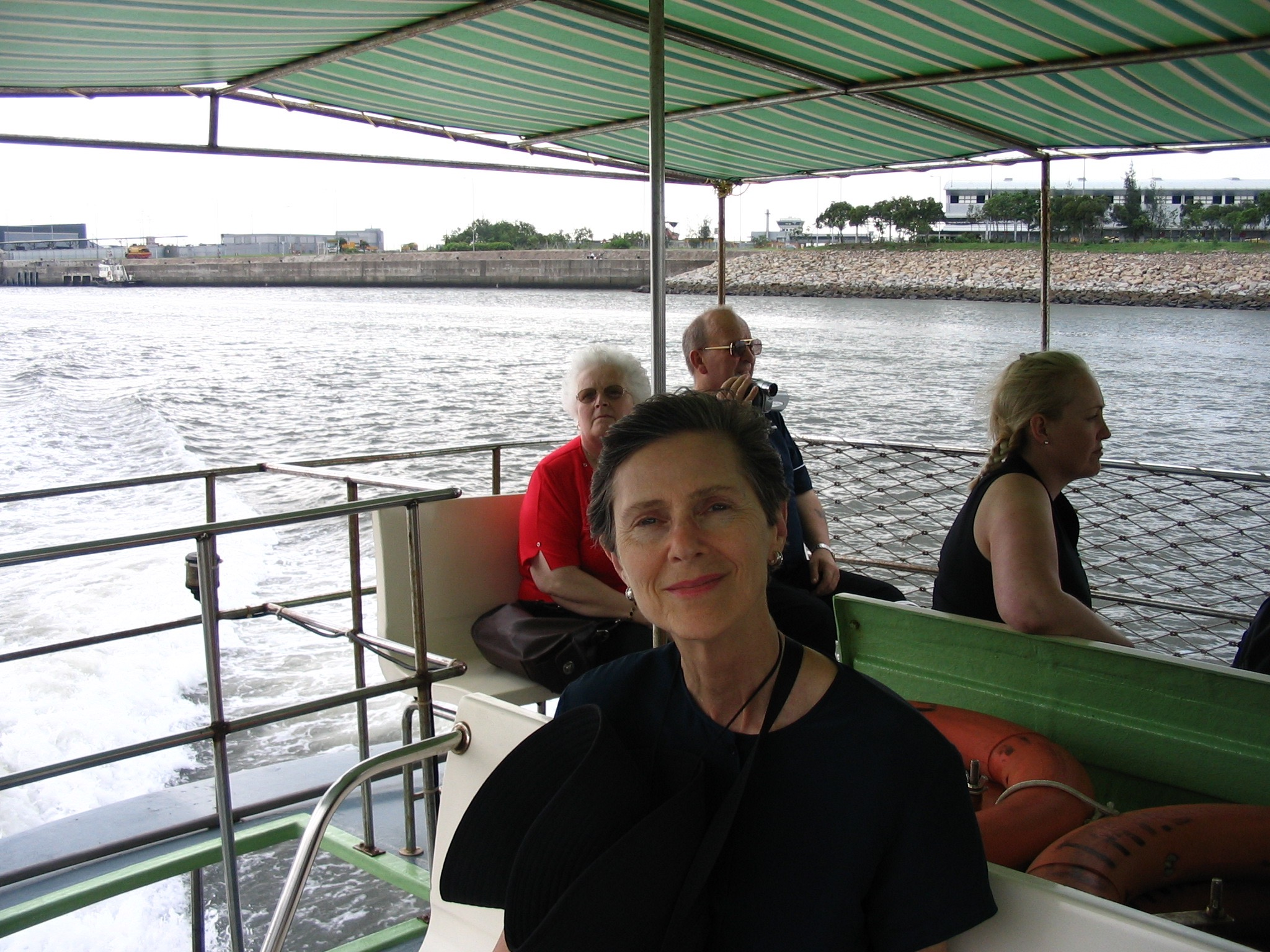 On a boat in China.