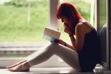 She is reading THE WAY THEY SEE