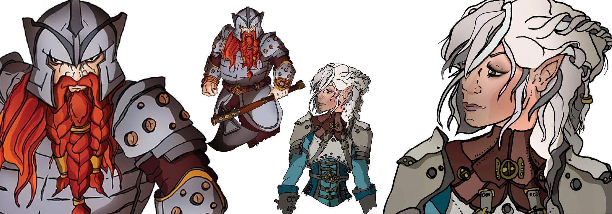 Fantasy character profile artwork