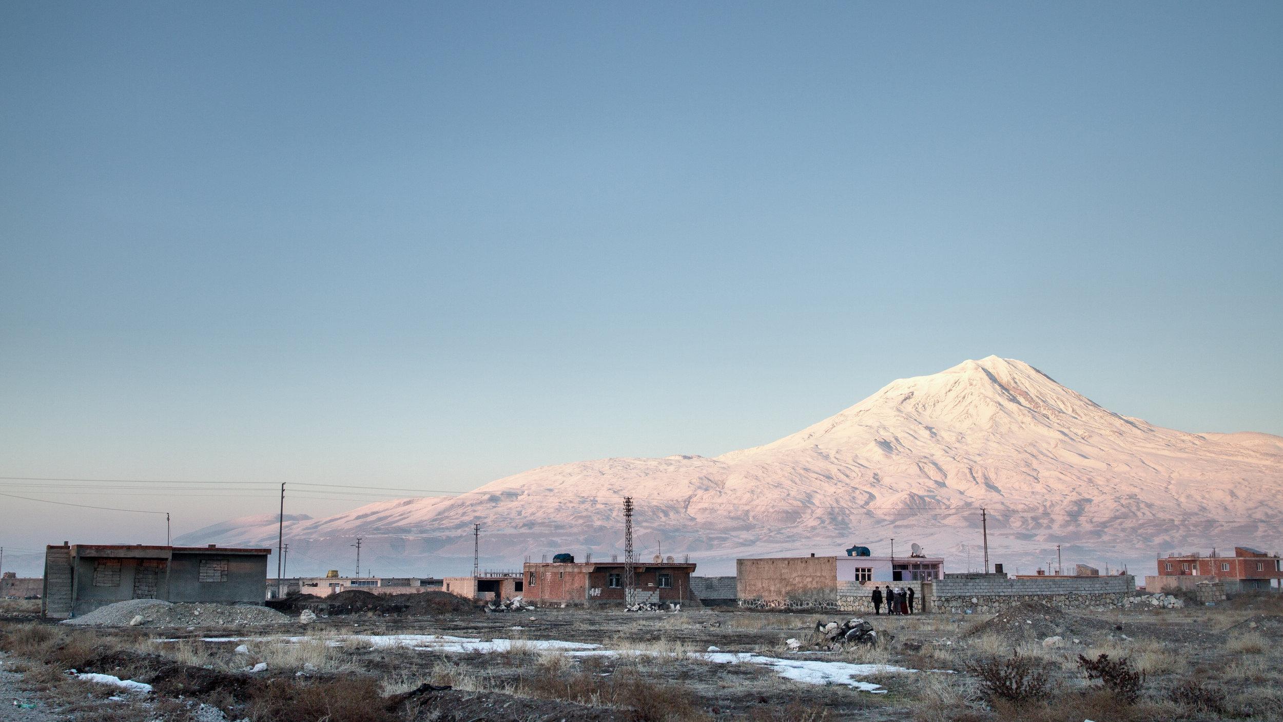 Mount Ararat as seen from Doğubayazıt, Turkey