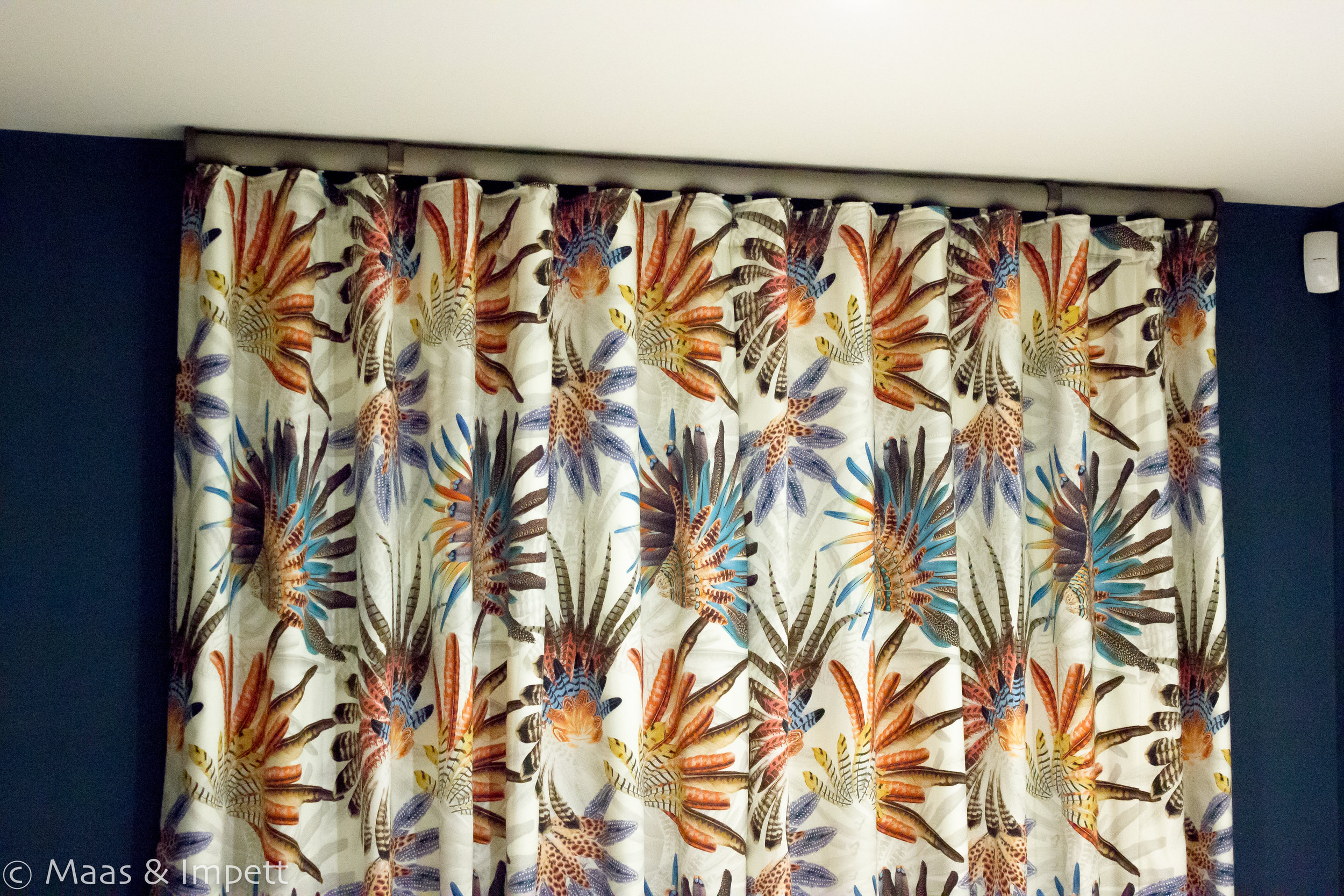 Curtains created by Maas & Impett
