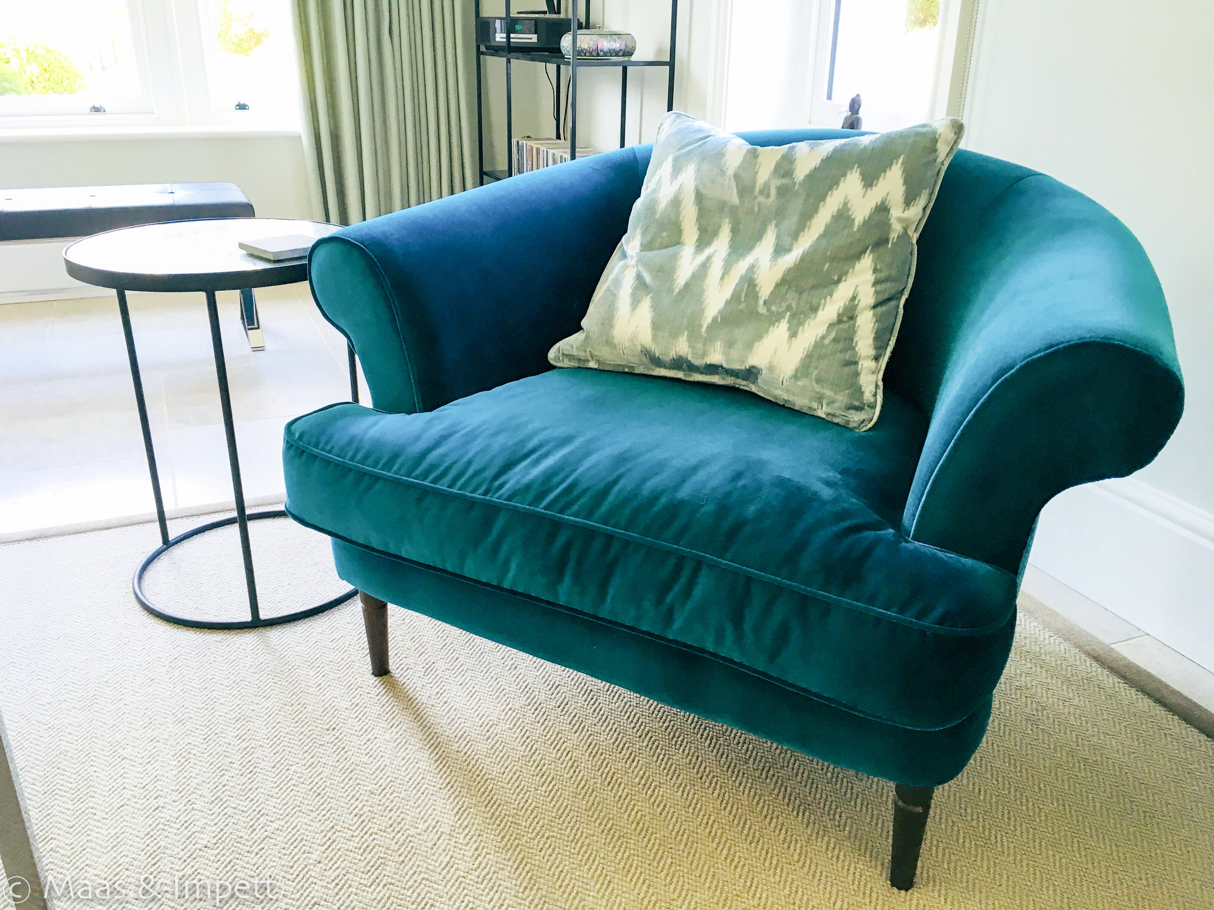 Upholstery by interior designer Maas & Impett