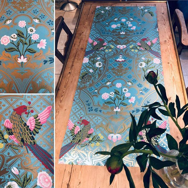 Thank you The little green paint company for this gorgeous wallpaper sample - (Suzy's favourite). Stunning colours and looking forward to working with you! #interiordesignnewforest #fabulouscolours #thelittlegreenpaintcompany #gorgeouswallpaper #lovecolours #maasandimpett