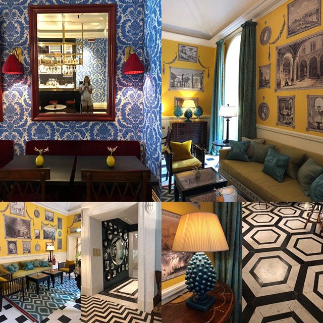 Italian interior elegance at its best thank you @hoteldelavilleroma . . . #interiorinspiration #interiordesignnewforest #wallpaperinspiration #flooringinspitation #dontbescaredtobringincolour