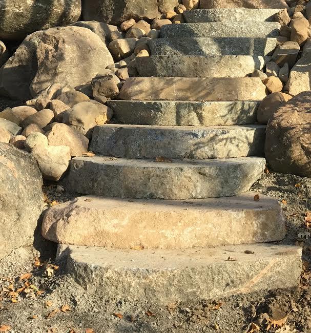 Boulder Slab Steps