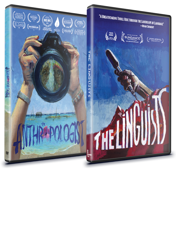 THE ANTHROPOLOGIST + THE LINGUISTS DVD  COMBO PACK  FOR HOME USE  $50