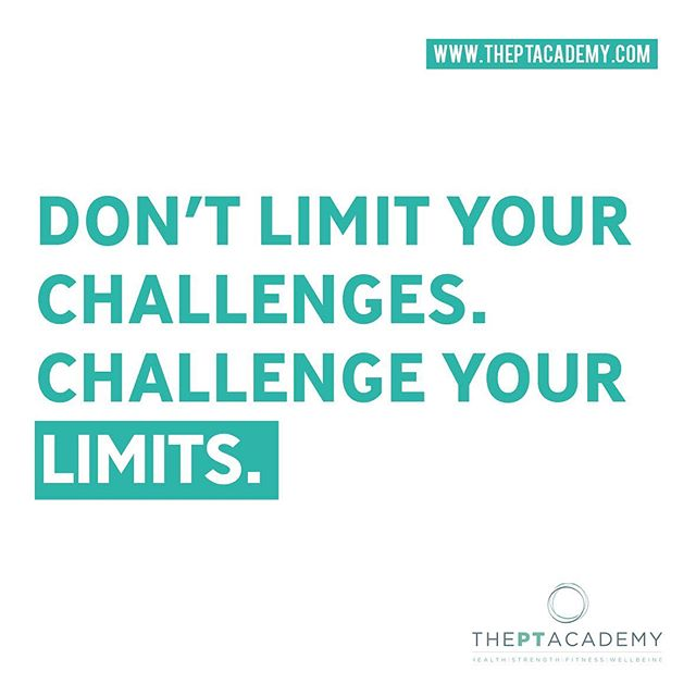 Challenge your limits.  Get in touch about your fitness journey with us.  Link in our bio. . . . #PersonalTrainer #PersonalTraining #fitnessmotivation #instafit #lifestyle #weightloss #pt #exercise #training #health #fitness#gymlife #getfit #fatloss #strength #functional #goals #fitfam #hardwork #results #healthylifestyle #fitnesscoach #fitnesslifestyle #training #motivation #transformation #inspire #theptacademy