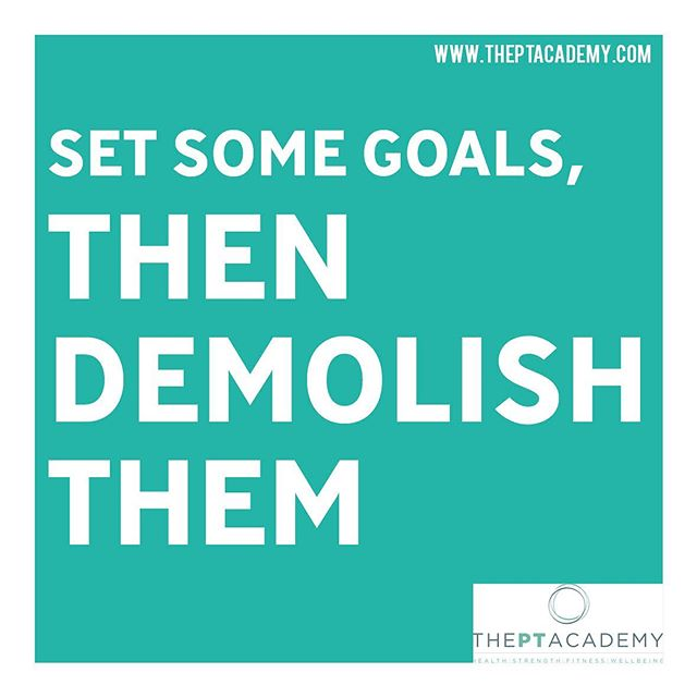 Set some goals. Then demolish them.  Get in touch about your fitness journey with us.  Link in our bio. . . . #PersonalTrainer #PersonalTraining #fitnessmotivation #instafit #lifestyle #weightloss #pt #exercise #training #health #fitness #gymlife #getfit #fatloss #strength #functional #goals #fitfam #hardwork #results #healthylifestyle #fitnesscoach #fitnesslifestyle #training #motivation #transformation #inspire #theptacademy
