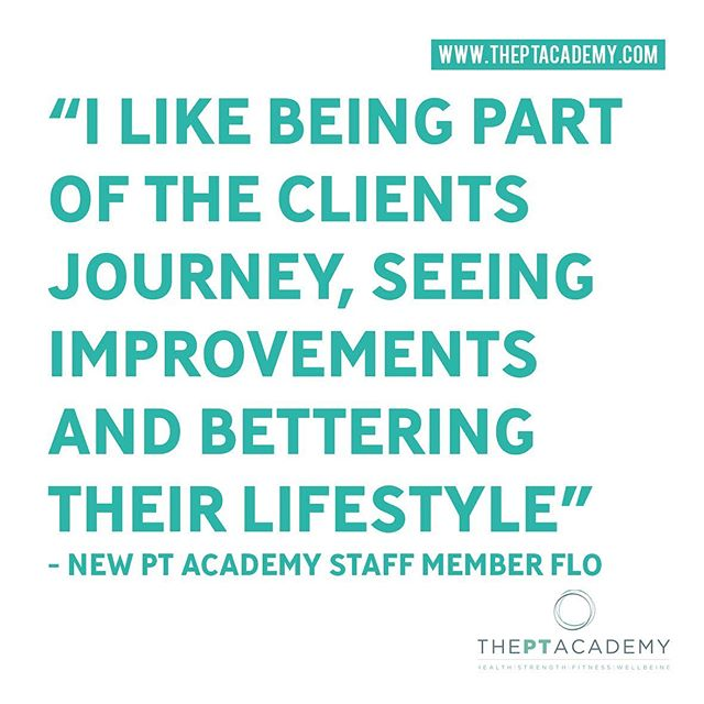 @__flofitness tells us why she loves being a personal trainer.  Get in touch about your fitness journey with us.  Link in our bio. . . . #PersonalTrainer #PersonalTraining #fitnessmotivation #instafit #lifestyle #weightloss #pt #exercise #training #health #fitness #gymlife #getfit #fatloss #strength #functional #goals #fitfam #hardwork #results #healthylifestyle #fitnesscoach #fitnesslifestyle #training #motivation #transformation #inspire #theptacademy