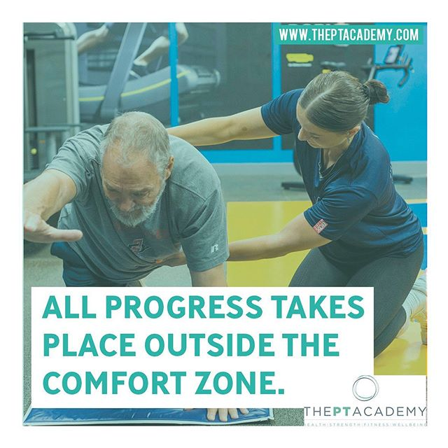 All progress takes place outside the comfort zone.  Get in touch about your fitness journey with us.  Link in our bio. . . . #PersonalTrainer #PersonalTraining #fitnessmotivation #instafit #lifestyle #weightloss #pt #exercise #training #health #fitness #gymlife #getfit #fatloss #strength #functional #goals #fitfam #hardwork #results #healthylifestyle #fitnesscoach #fitnesslifestyle #training #motivation #transformation #inspire #theptacademy