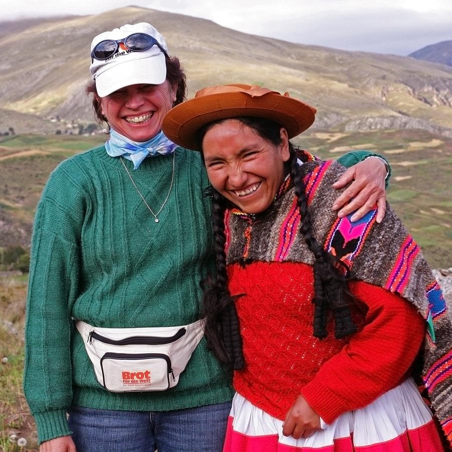 Auf 3500m Höhe in Peru, mit Lucinda Quispealaya Bild: Thomas Lohnes