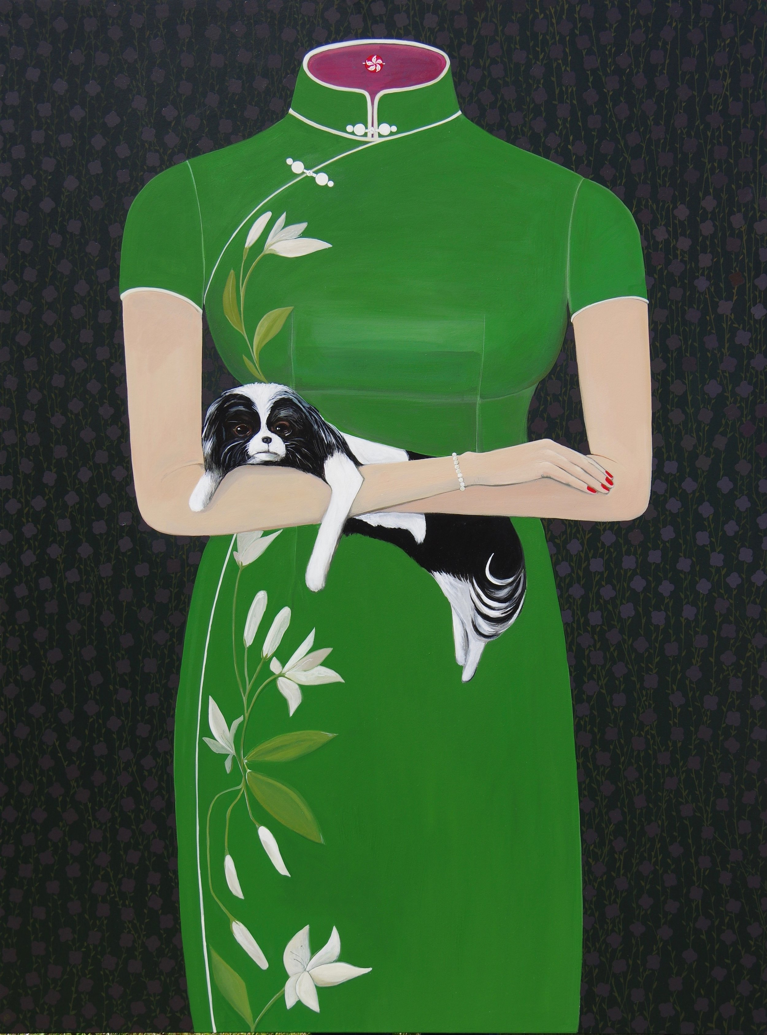 "Year of the Dog  Acrylic on Panel  48""x36""  2018"
