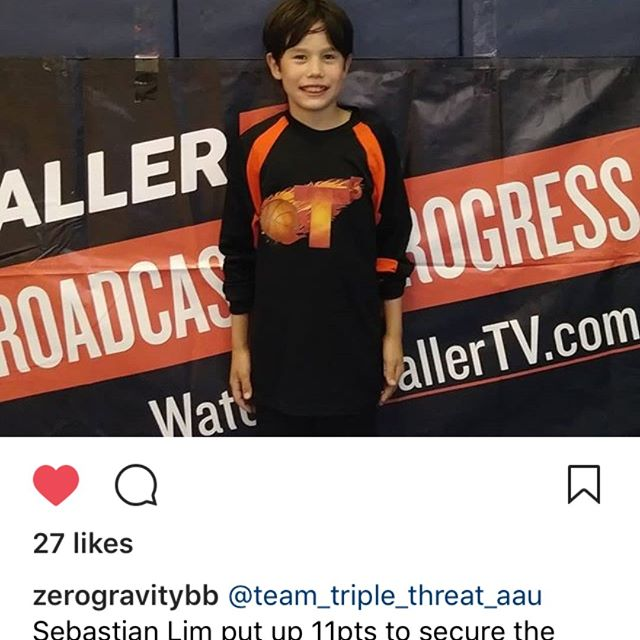 4th grader Sebastian has been putting in the work and it shows. Every game his scoring, ball handling and Defense has improved. Everytime he leaves the gym he gets better, and thats the goal for all our kids! Keep up the hardwork Seb!