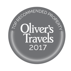 We are very pleased to have been awarded a Top Property Award from Oliver's Travels for 2017