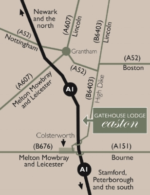 Directions to The Gatehouse Lodge Easton Grantham Lincolnshire