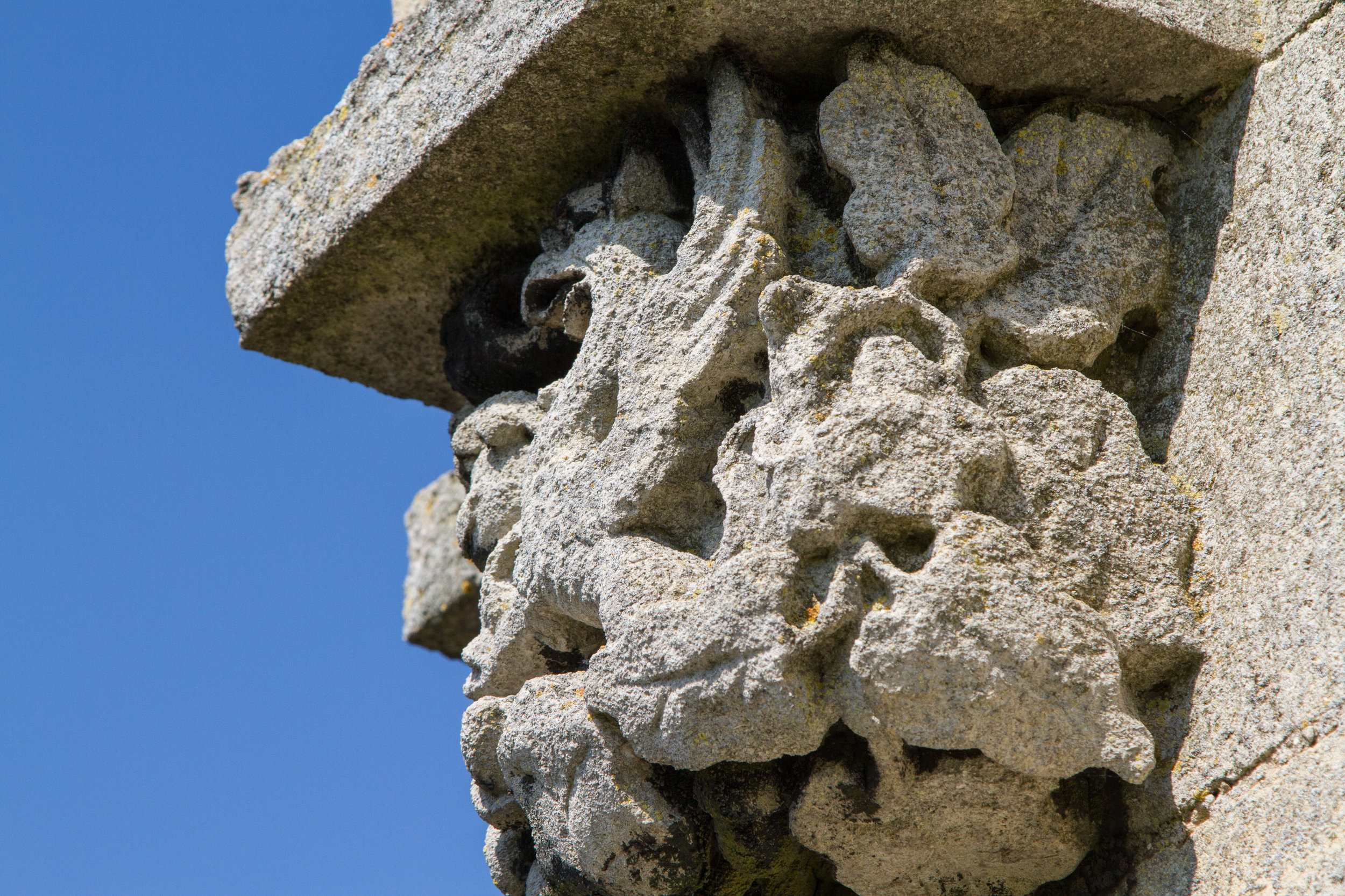 Stone Griffin on the Clock Tower at Easton Walled Gardens