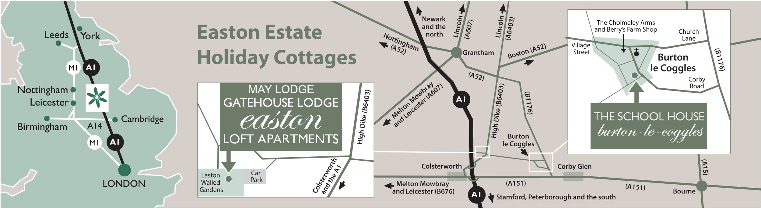 Easton Holiday Cottages - Boutique accommodation near Grantham, Lincolnshire
