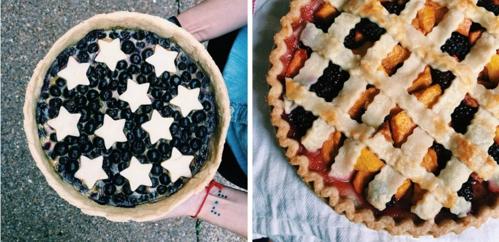 Two of my #muriels50pies creations during my personal challenge.