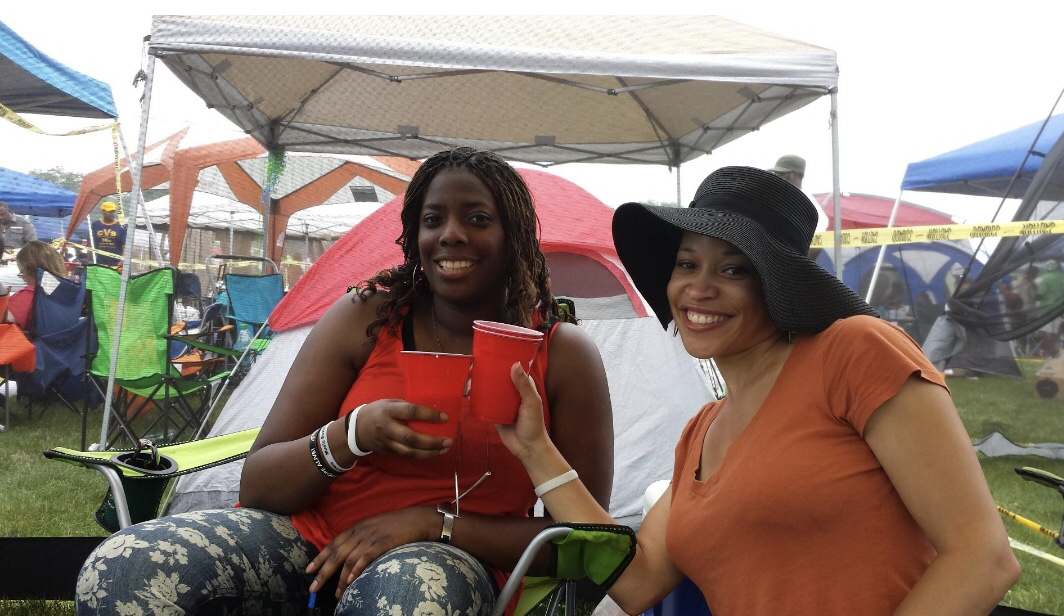 Guest enjoying the Day at William Myles Tent!