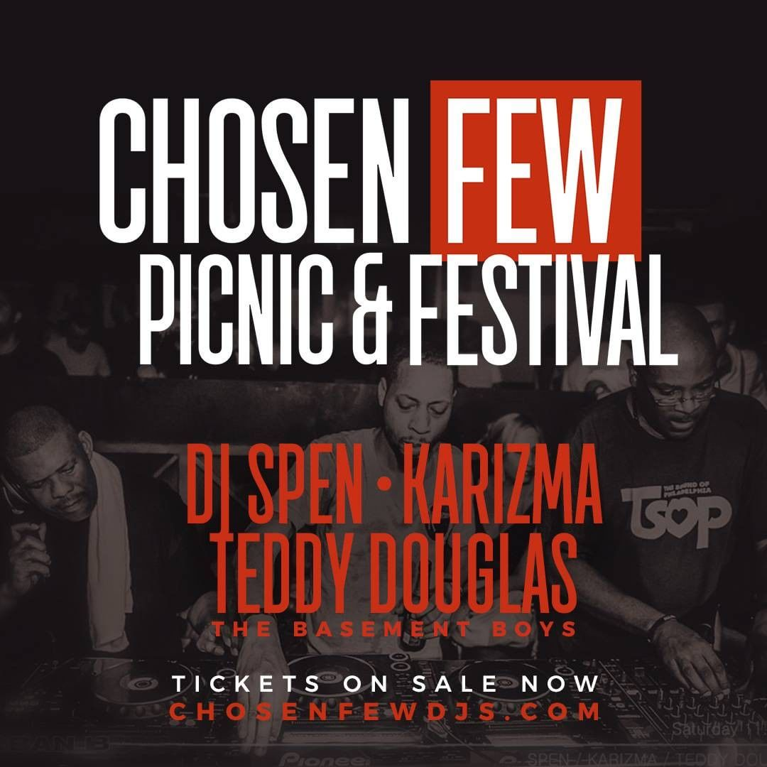 Have you grabbed your tickets yet? Click here to purchase tickets to this year's Chosen Few Picnic & Festival!