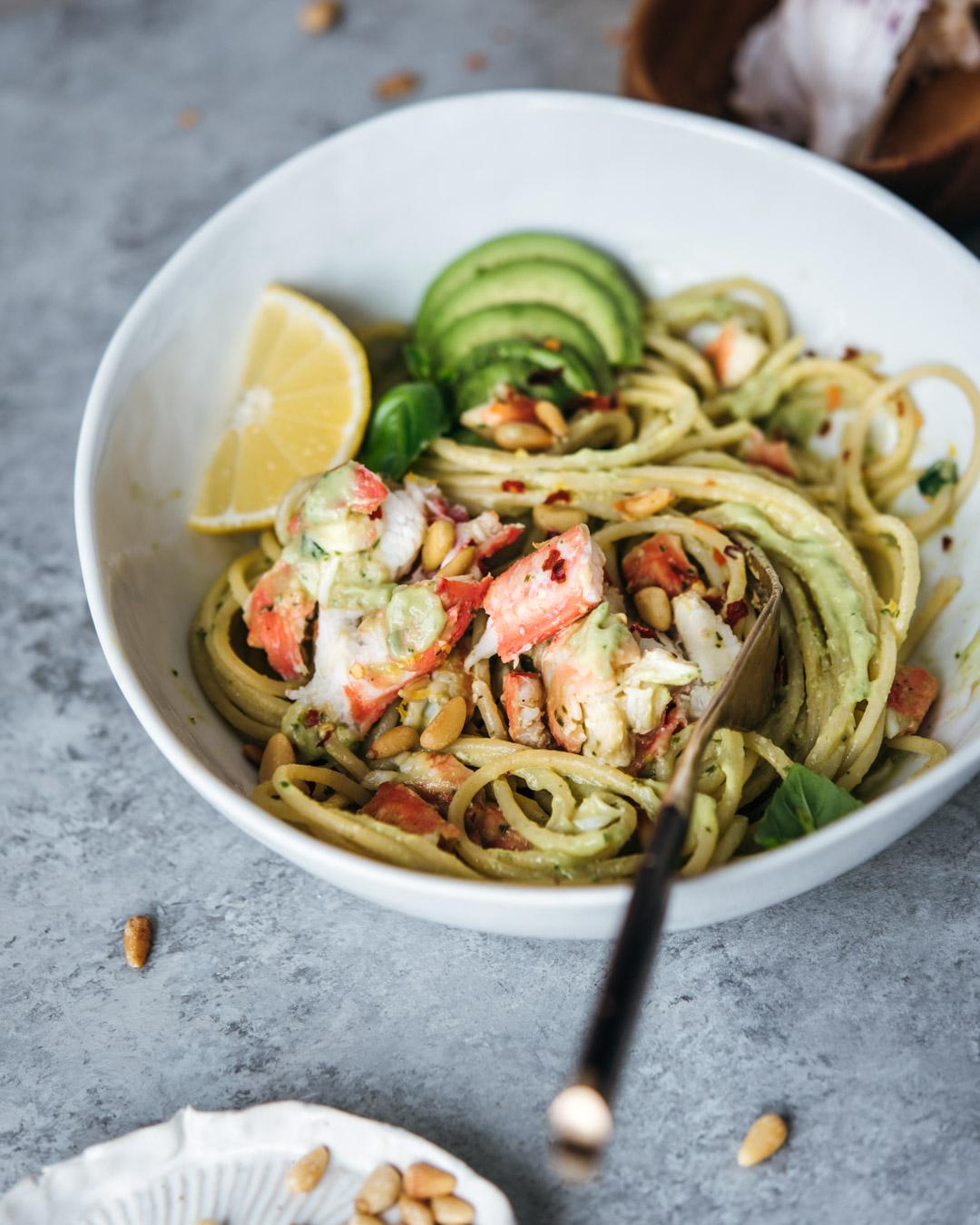 king crab avocado pesto pasta petrossian-0031-2.jpg