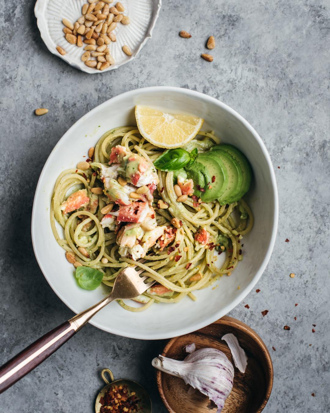 king crab avocado pesto pasta petrossian-9924-2.jpg