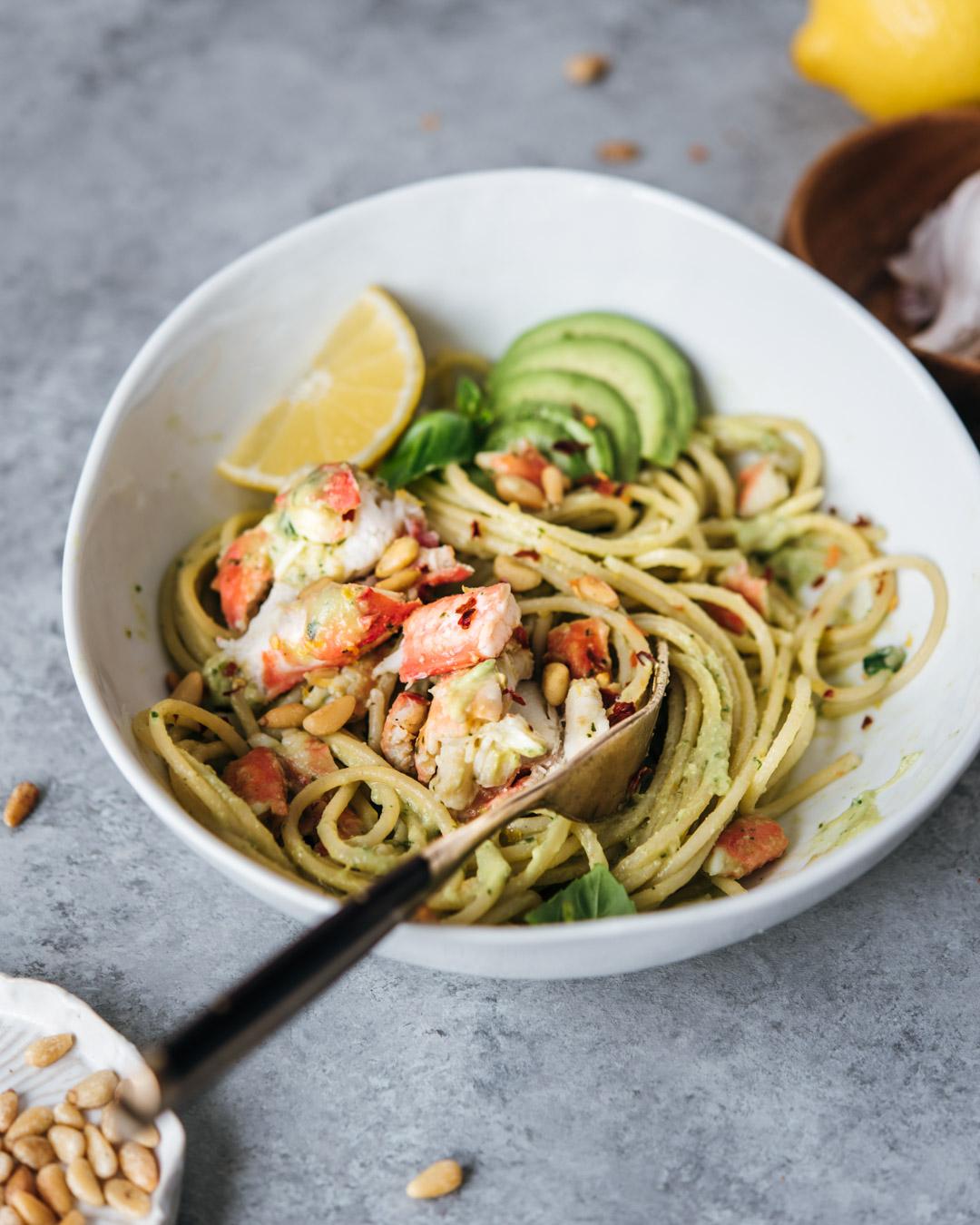 king crab avocado pesto pasta petrossian-0026-2.jpg