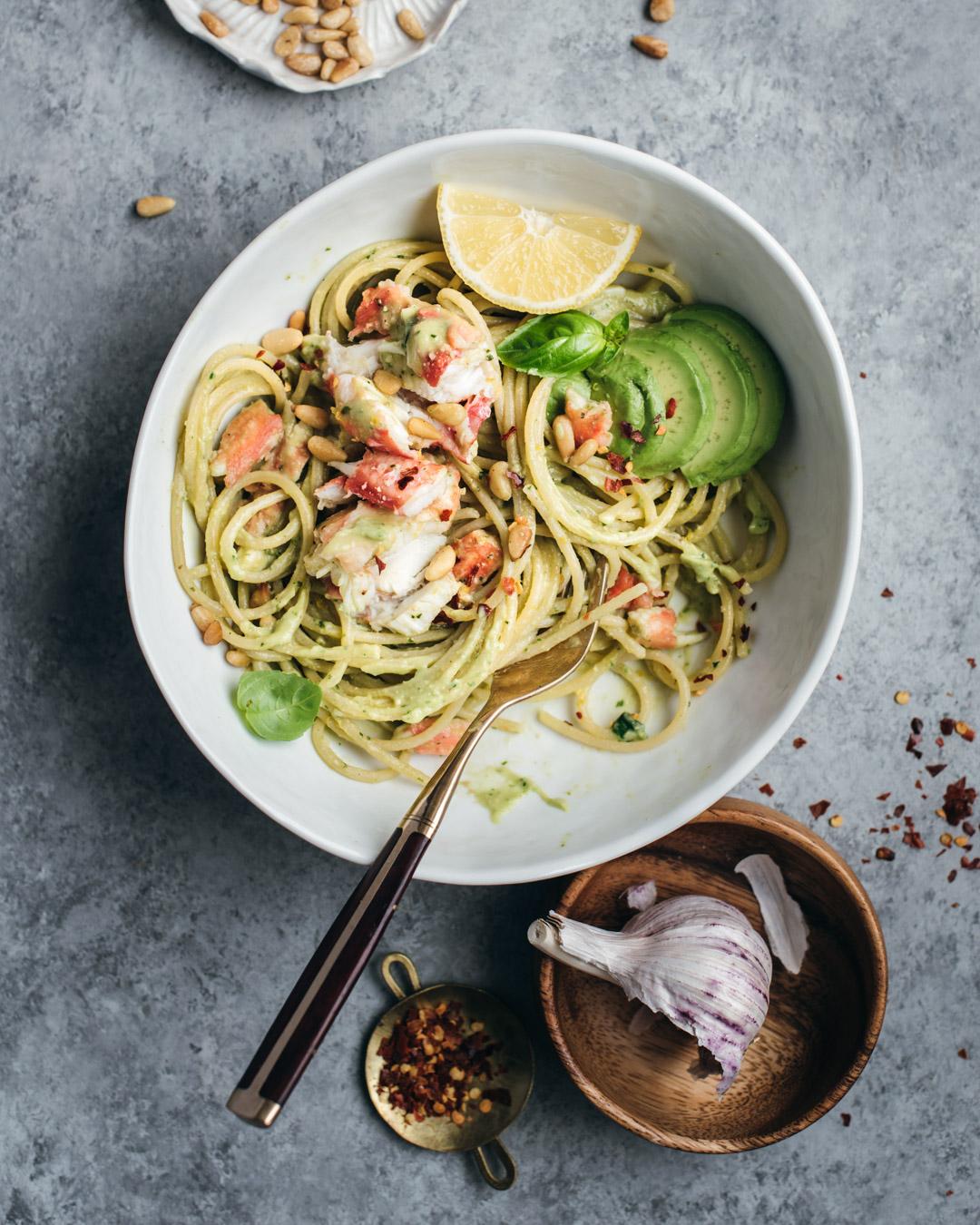 king crab avocado pesto pasta petrossian-9982-2.jpg