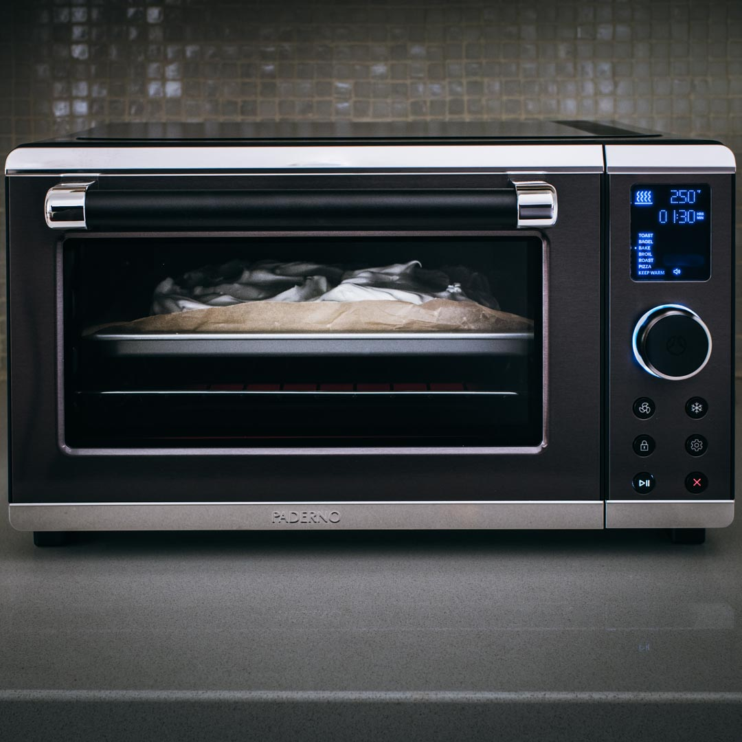 Paderno 6-Slice Convention Toaster Oven keeping my kitchen cool, in temperature and design.