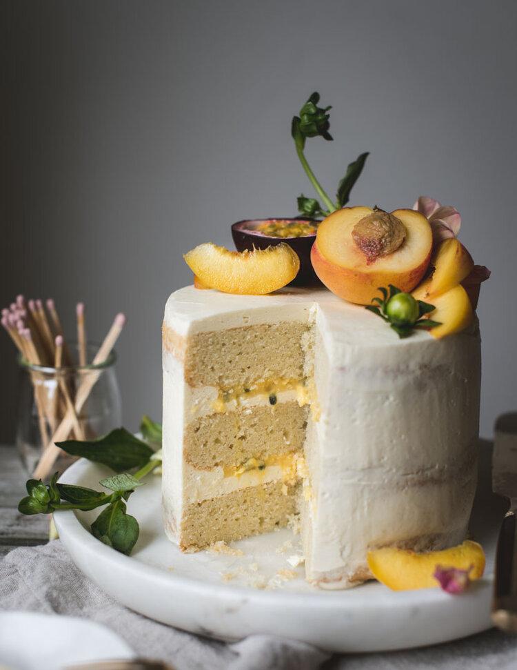 Peach Passionfruit Curd Vanilla Layer Cake-8042.jpg
