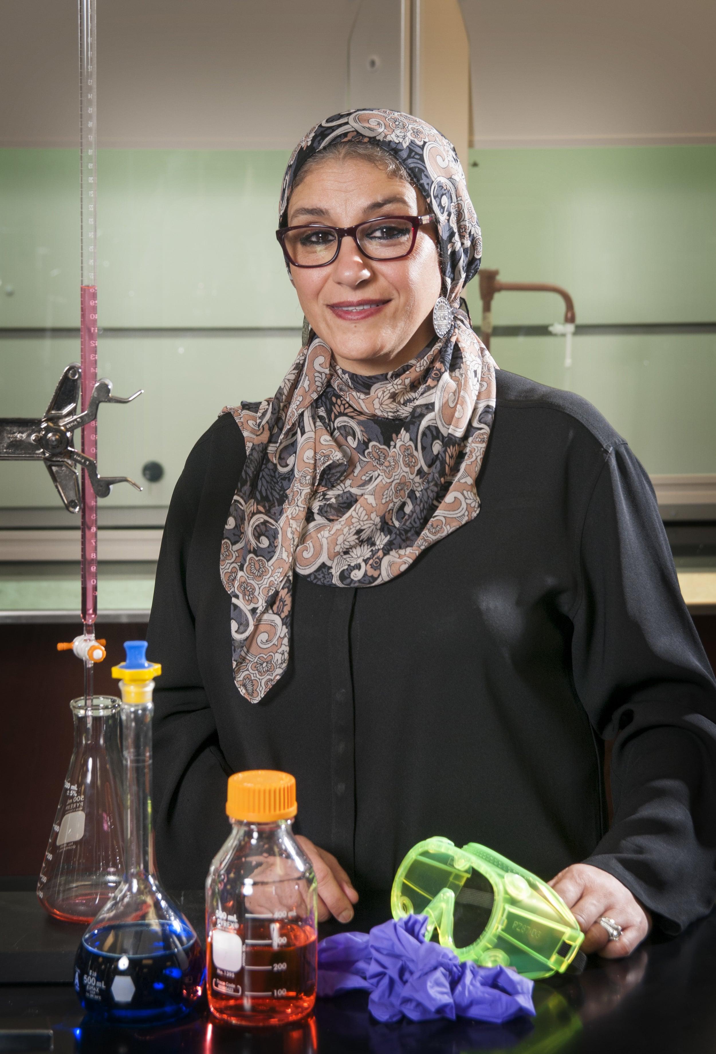 Amina El-Ashmawy, Professor of Chemistry.