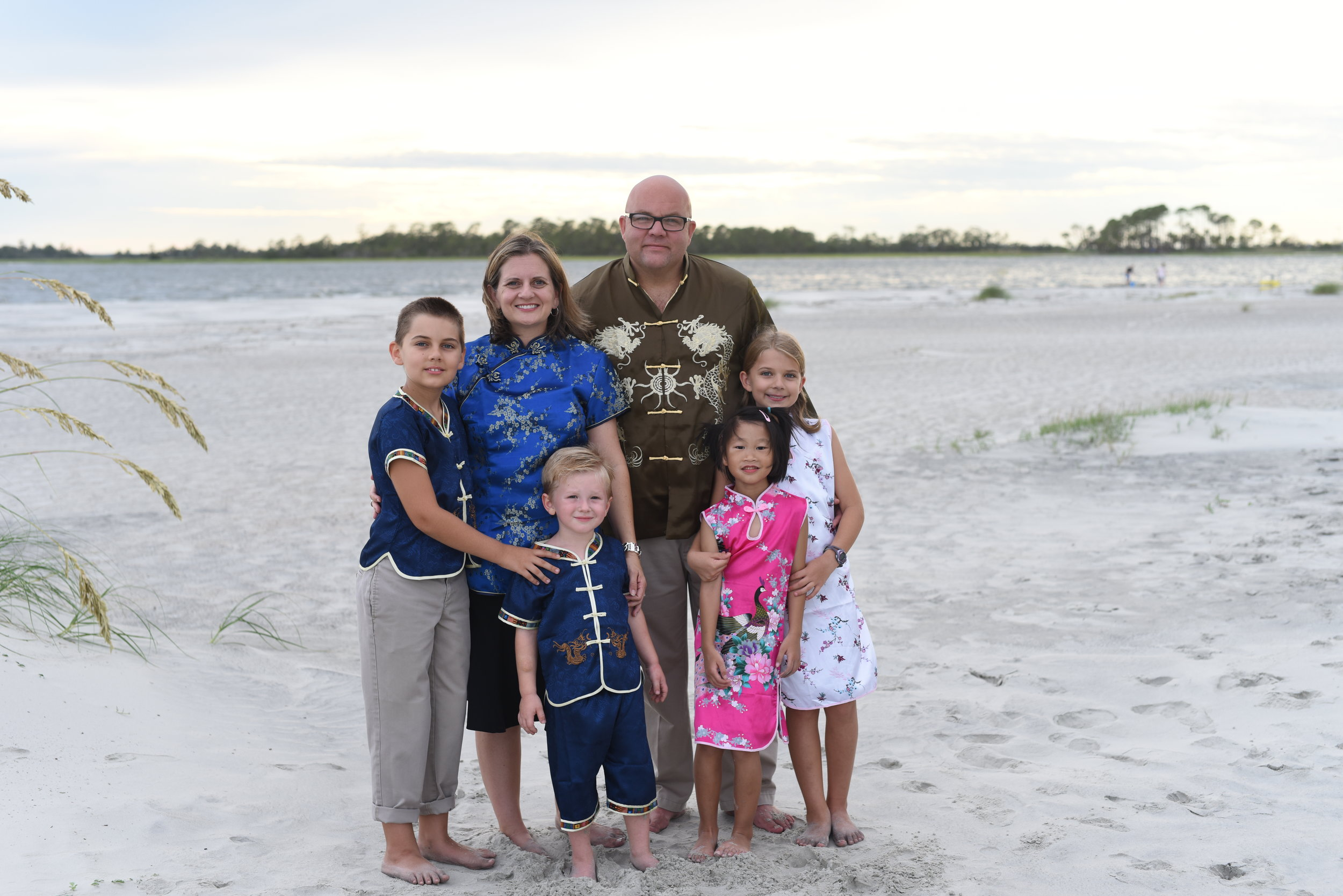 The Oliver family after returning from China. Photo by  Sarah Kohut Photography