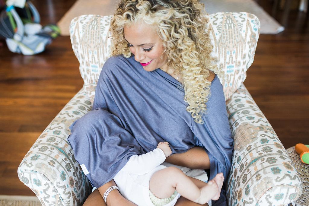 Pictured: Moss & Marsh  Nursing Cover . Photo By  Monica Jean Photography .