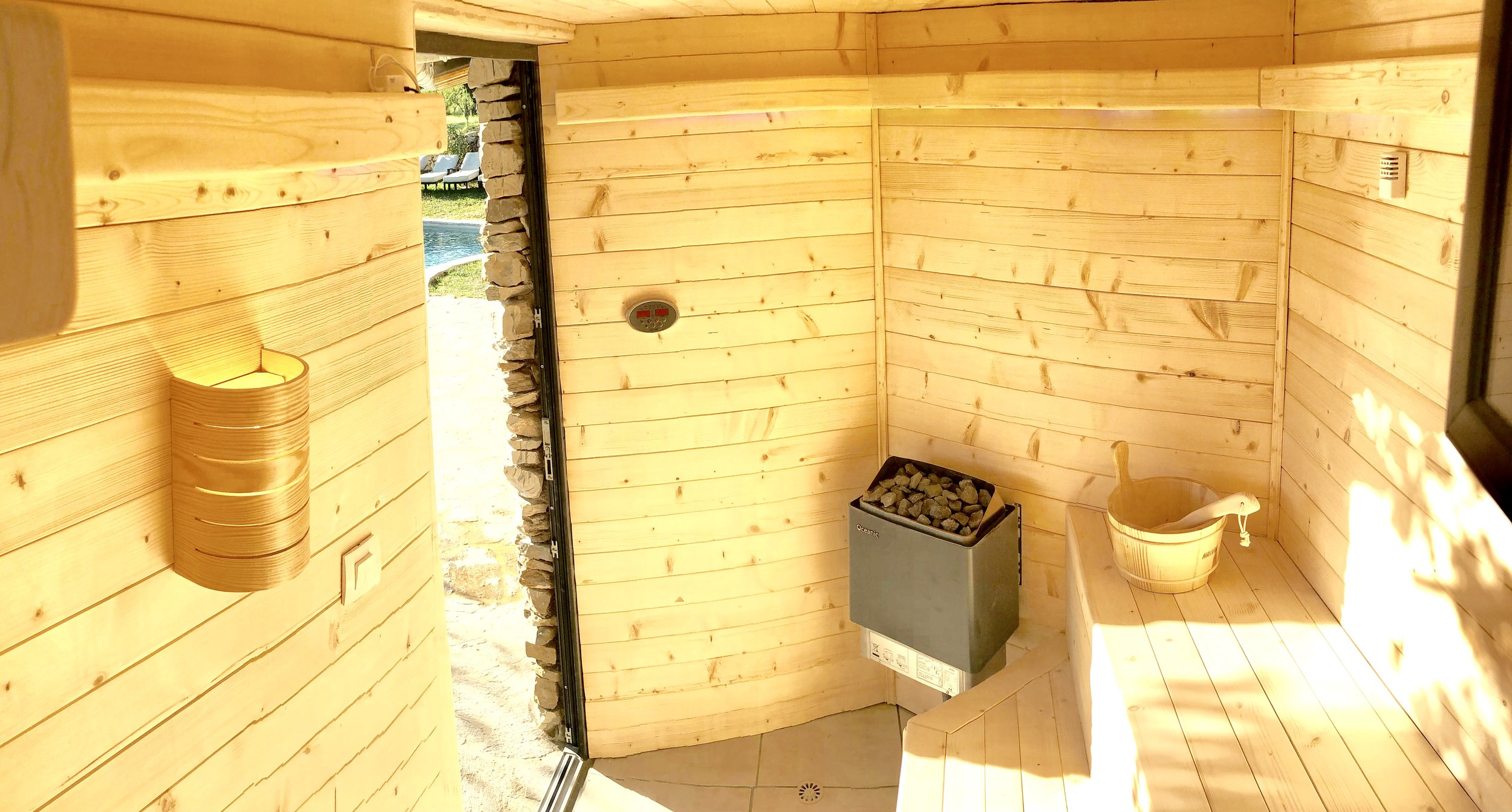 Sauna wild boar mountain