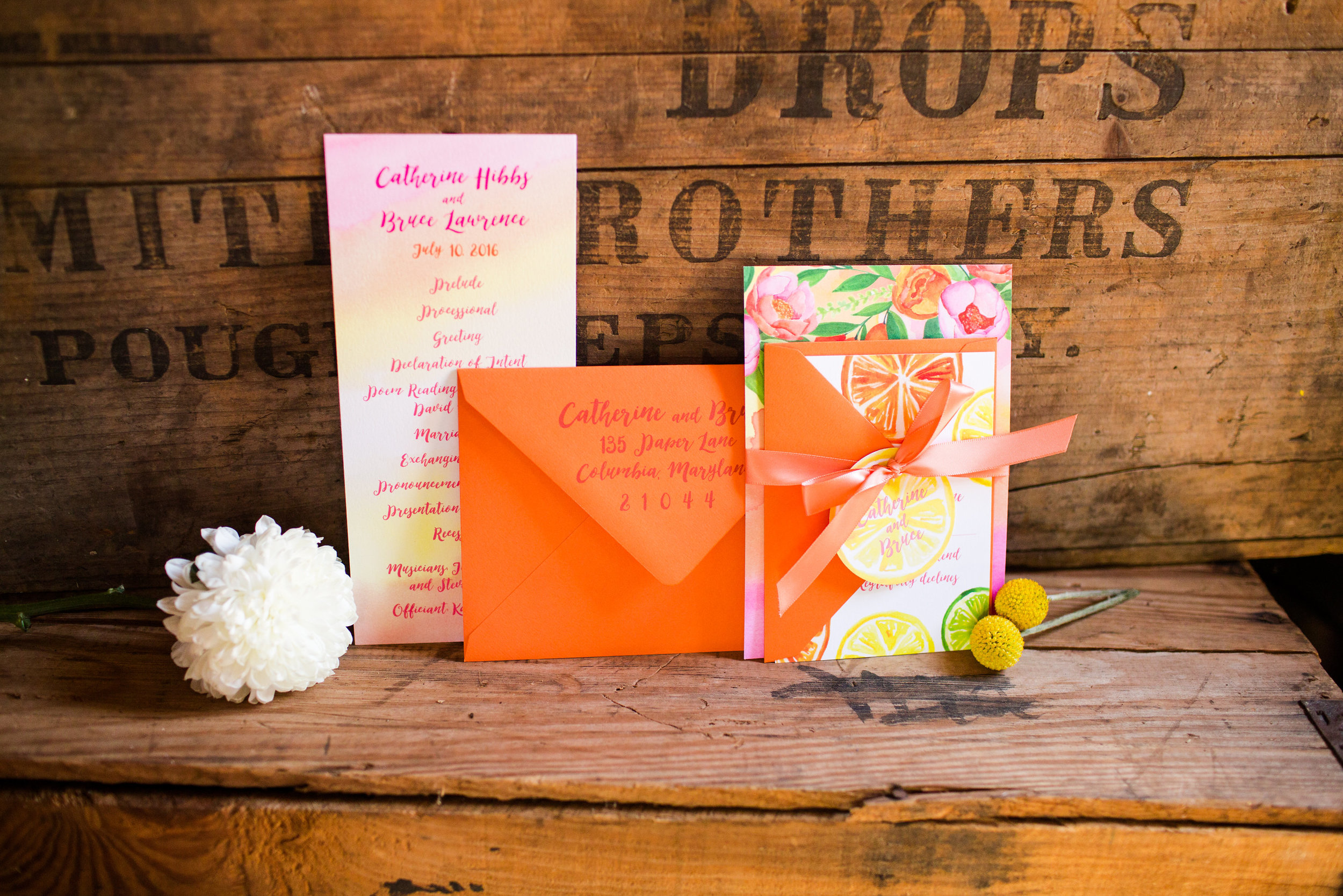 Citrus Wedding Inspiration Baltimore Wedding Planner Kira Nicole Photography